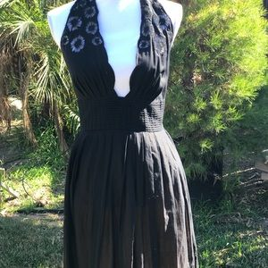 Black dress with lace overlay